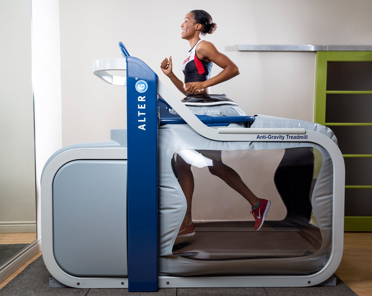 Girl using Alter G